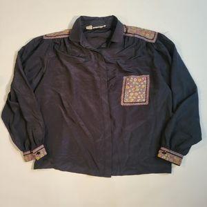 Abiam's  black long sleeve blouse size medium